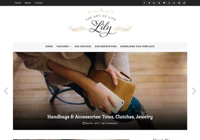 Lily Fashion Free Blogger Theme