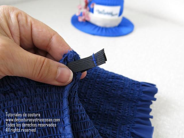 tutorial para hacer falda fruncida