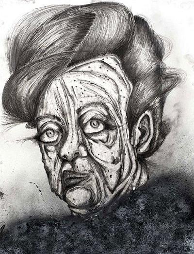 Roey Heifetz arte dibujos a lapiz,  cool sad images