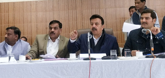Cabinet Minister Rao Narbir Singh at Palwal complained to the people who listened with MLA Techand Sharma