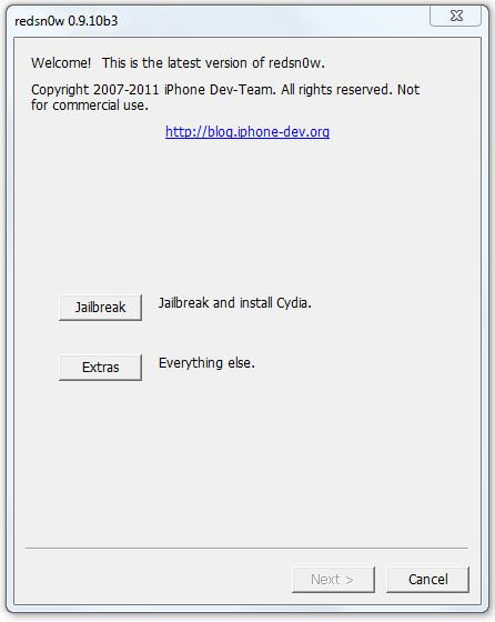 Download Redsn0w 0.9.10 b3 To Jailbreak iOS 5.0.1 Untethered And Fix All Bug