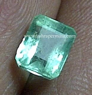 Batu Permata Jamrud Colombia + Memo - ZP 626