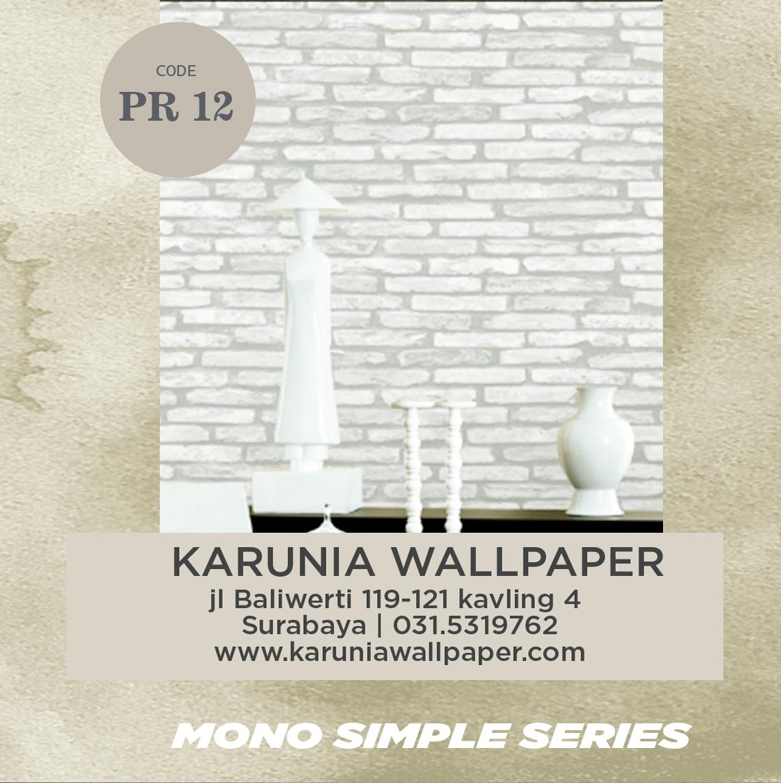 jual dinding wallpaper bata putih