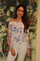 Actress Pragya Jaiswal Latest Pos in White Denim Jeans at Nakshatram Movie Teaser Launch  0076.JPG