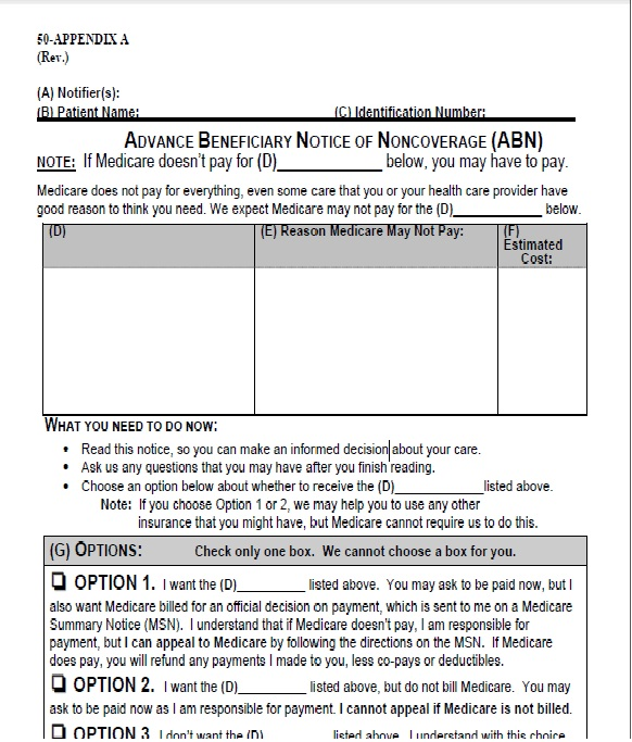 Medical Billing: Download ABN Form 2011 for free