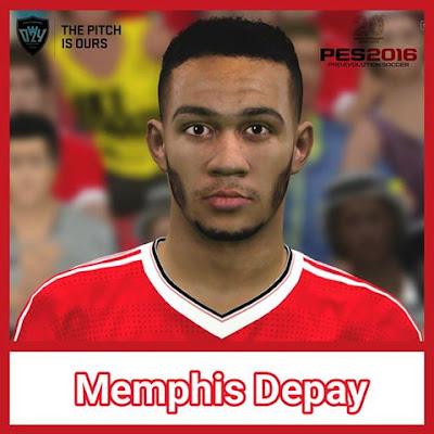 PES 2016 Memphis Depay Face by Ozy_96 PES MOD