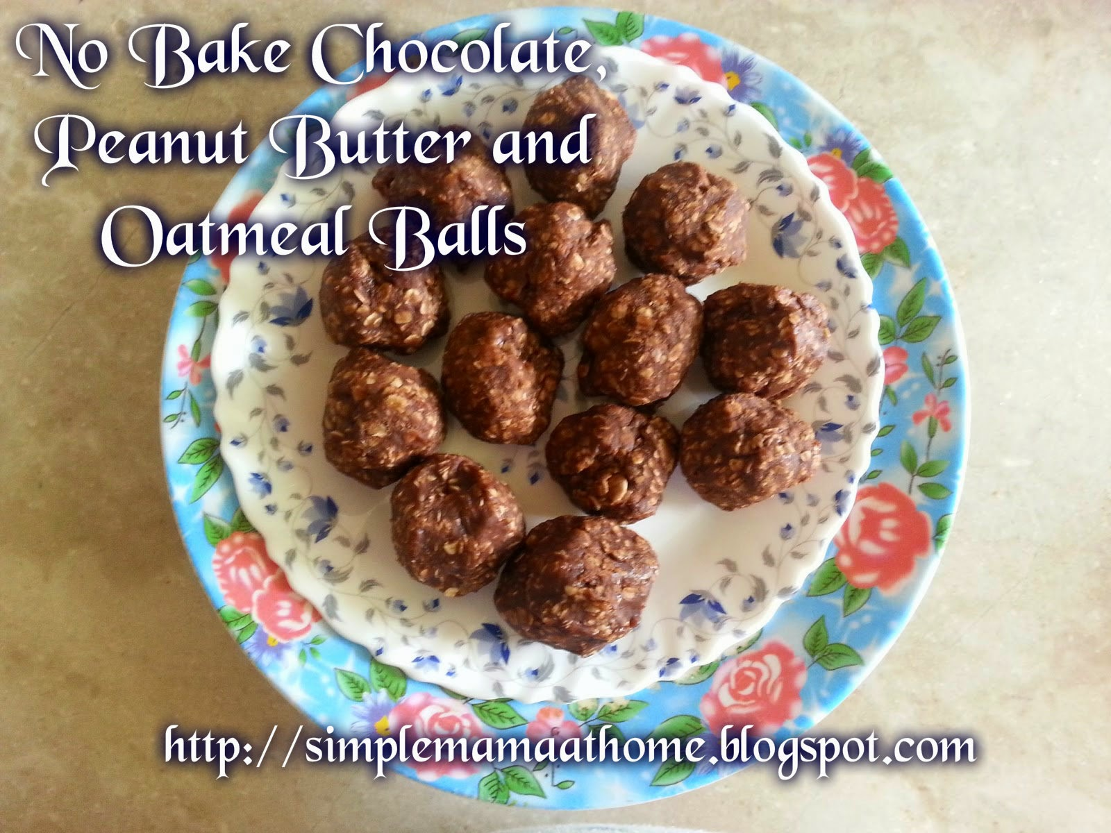 No Bake Chocolate, Peanut Butter and Oatmeal Balls