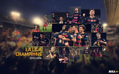 PES 2013 Start Screen FC Barcelona 2015/16 La Liga Champions by Boris