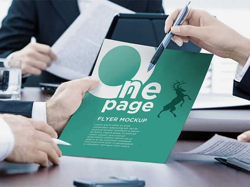 One Page Flyer Mockup Template, best flyer mockup download free