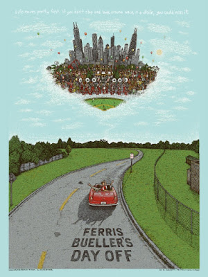 Ferris Bueller's Day Off Blue Sky Edition Screen Print by Marq Spusta & Dark Hall Mansion