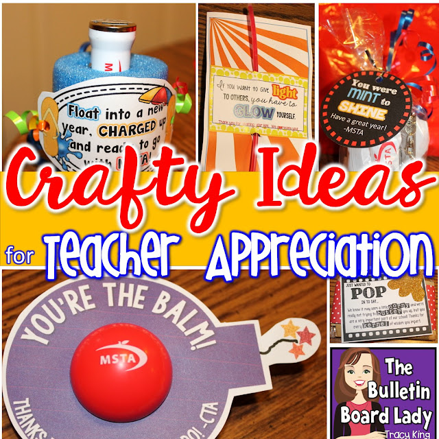Crafty Ideas for Teacher Appreciation by Tracy King