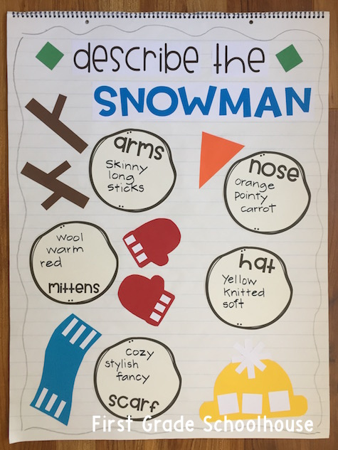 First Grade Schoolhouse: Winter Snowman Activities