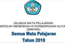 Silabus SMA/MA Kurikulum 2013 Tahun 2018