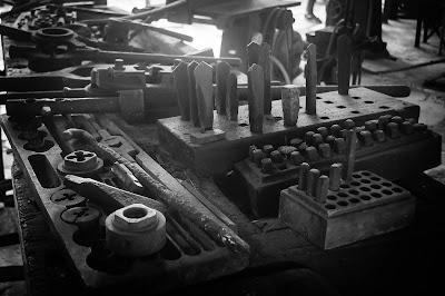 Paranapiacaba - Ferramentas antigas utilizadas na manutenção dos trens