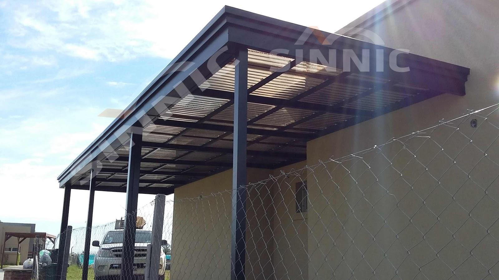 Techo de policarbonato pergolas aleros techo para for Techos de policarbonato para garage