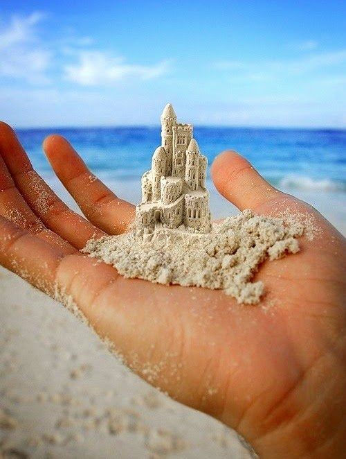 miniature sand castle