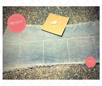 Transforme Calça Jeans em Cropped - Posição Correta do Molde do Quadrado