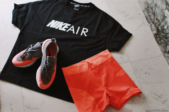 Japanese Fashion Blogger,MizuhoK,2019,New in May and June , NIKE TEE, LEGGINGS,SNEAKERS