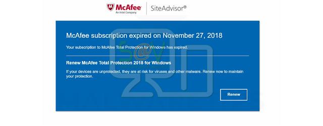 Siteadvisorwin.com pop-ups (McAfee Scam)