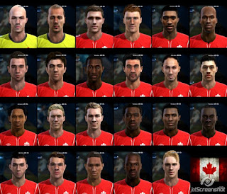 Facepack Canada National Team Pes 2013
