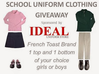 Enter the School Uniform Clothing Giveaway. Ends 1/13.