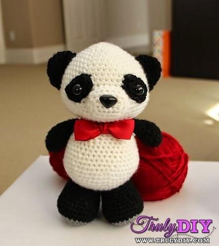 Pandas gigantes amigurumis … | Amigurumi de animais de crochê ... | 500x445