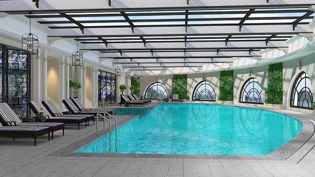 Bể bơi bốn mùa với thiết kế hiện đại