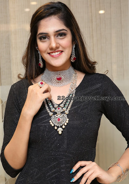 Models in Diamond Sets by Manepally Jewellers