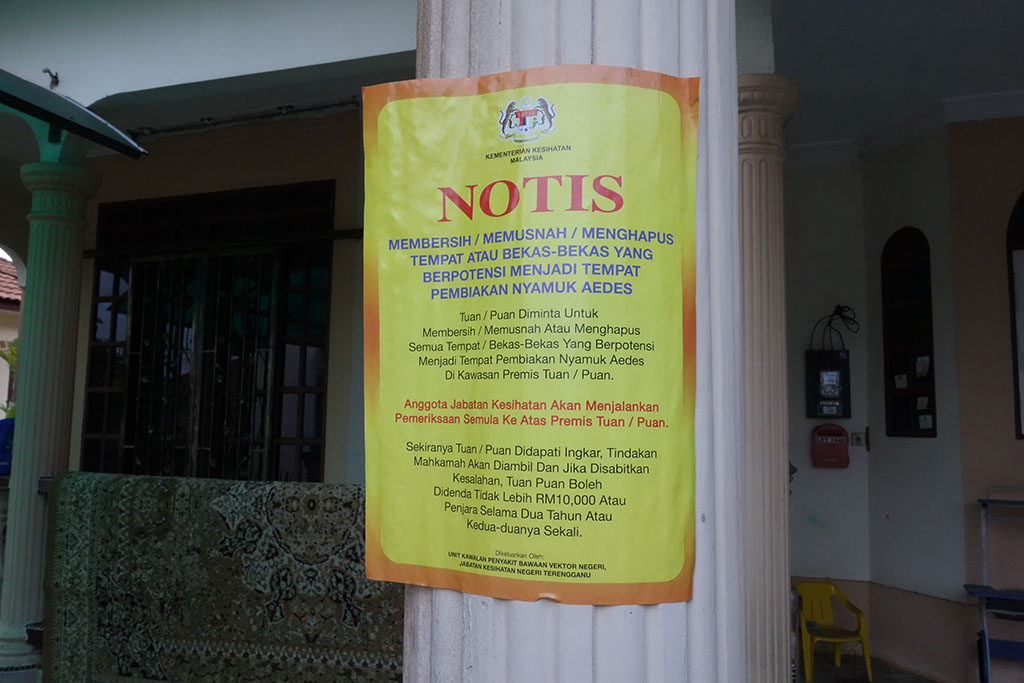 Balik Daripada Sekolah Terlihat Notis Ini Amaran Untuk Minta Jaga Kebersihan Rumah Pembiakan Nyamuk Dan Denda Rm10 000 Langgar Org Sampai