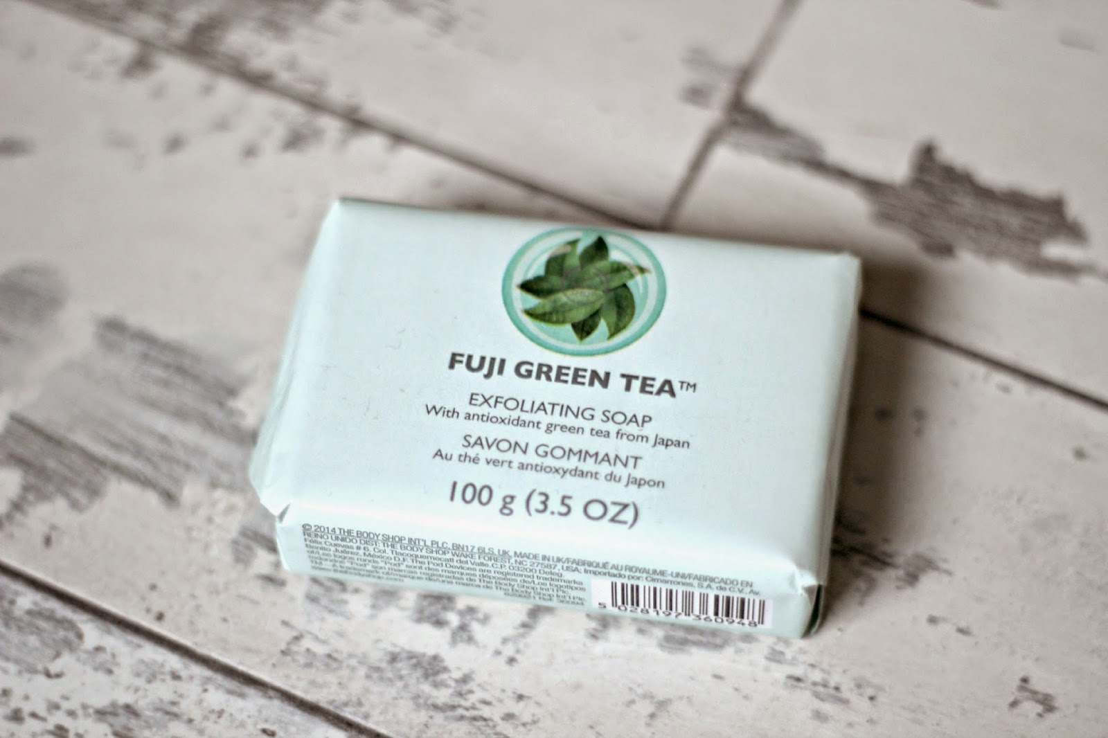 The Body Shop Fuji Green Tea Exfoliating Soap Ashley Rose