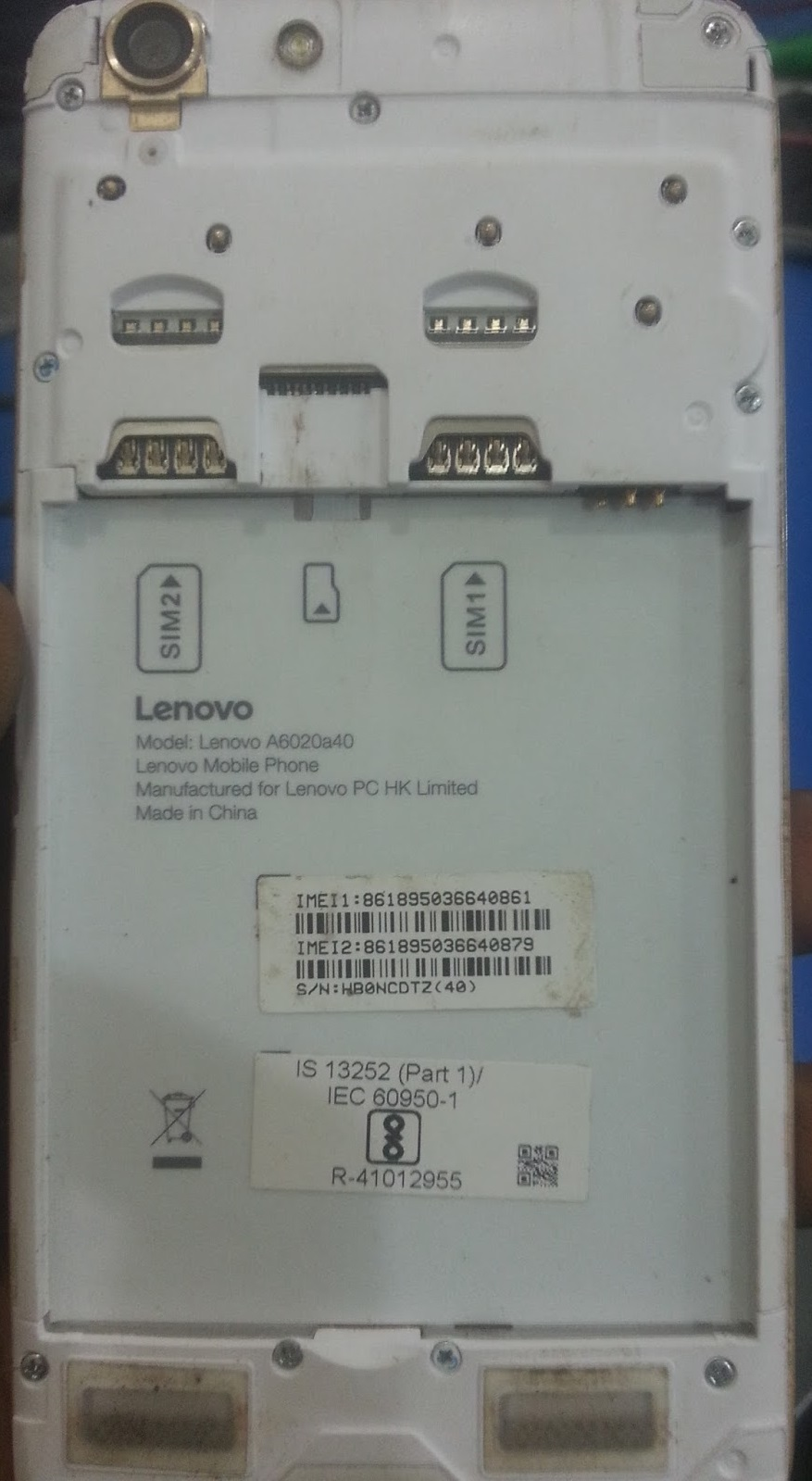 Lenovo A6020a40 Firmware Flash File Stock Rom Qualcomm Tested 100