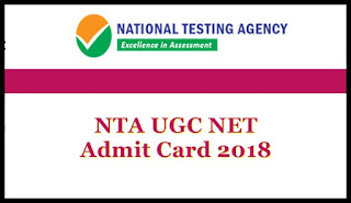 nta ugc net admit card december 2018