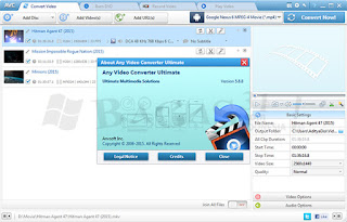 Any Video Converter Ultimate 5.8.8 Software Converter Sekaligus Burning DVD,Recorder dan Player Video