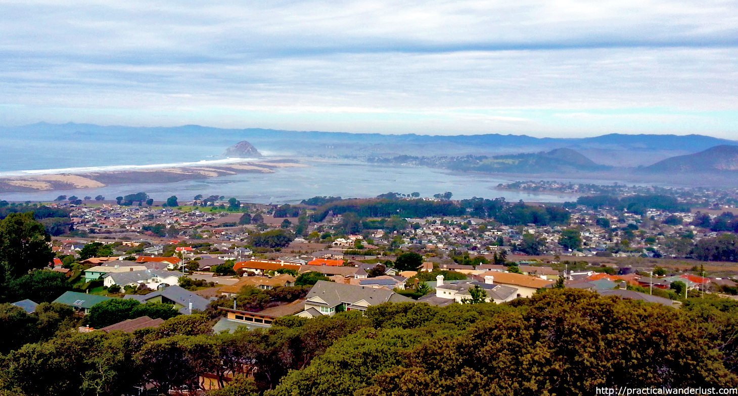 "View overlooking the central coast town of Morro Bay, California from the ""Top of the World"""