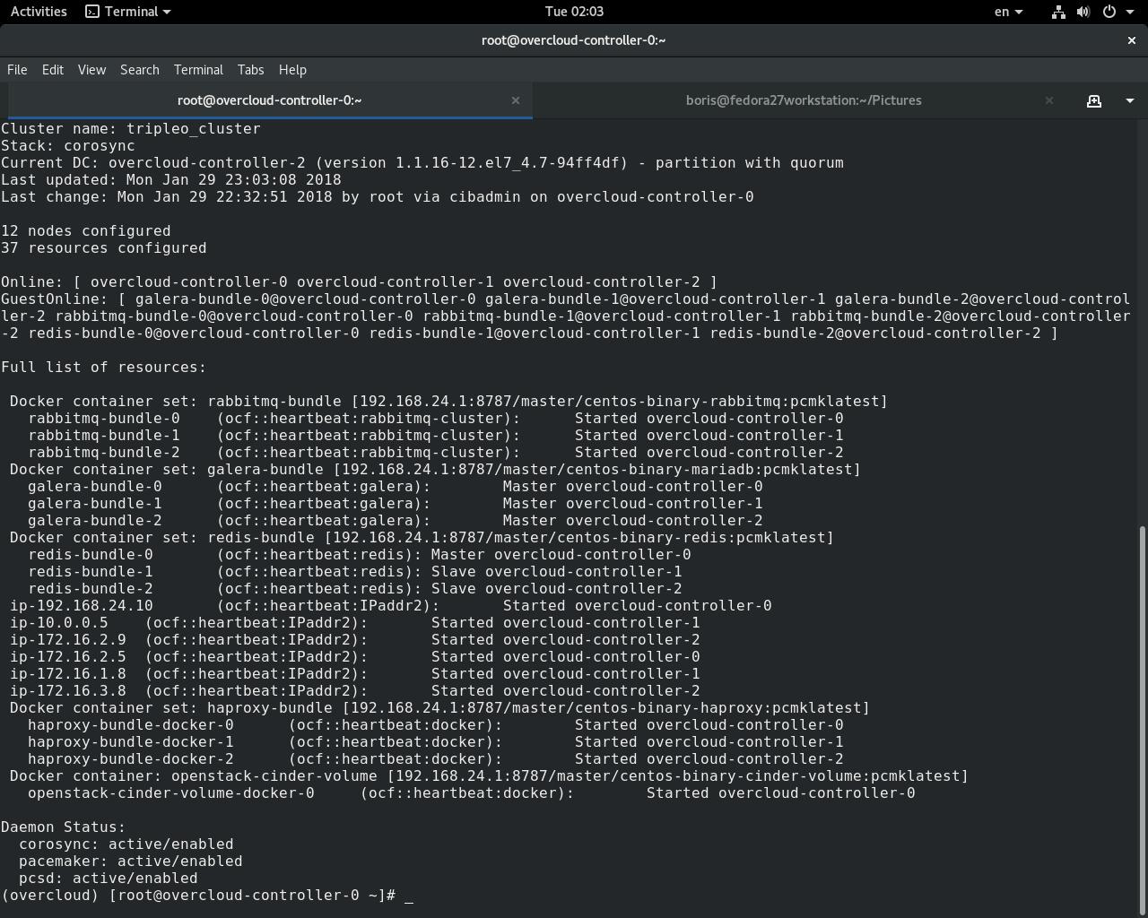 Openstack RDO && KVM Hypervisor: TripleO QuickStart (Master