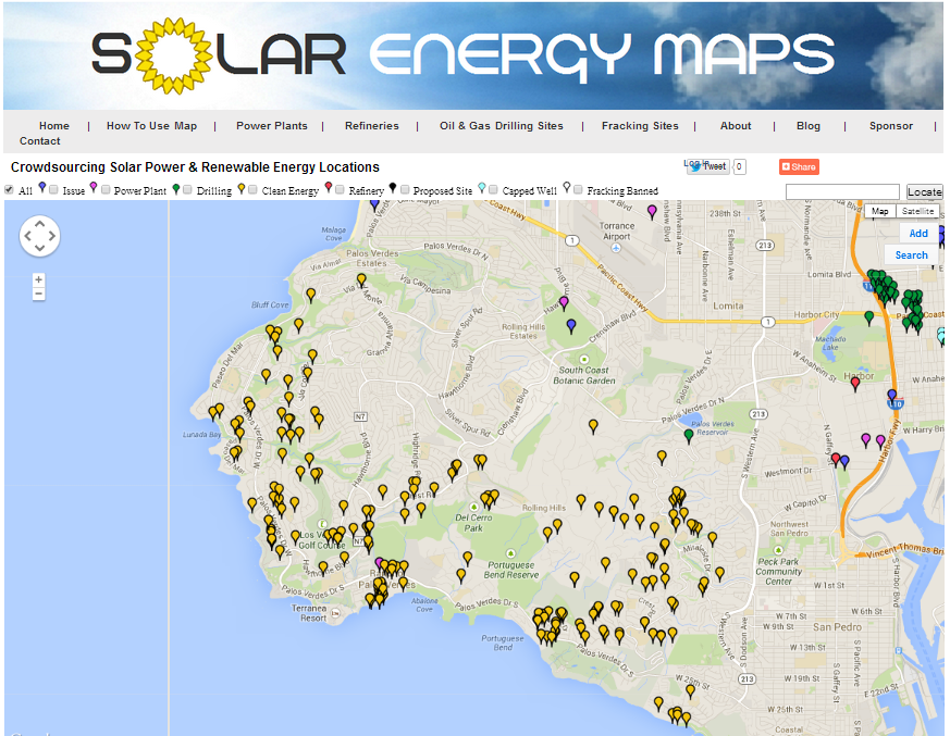 Palos Verdes solar roof map