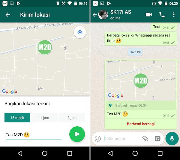 Berbagi lokasi di WhatsApp memang sudah dapat dilakukan semenjak dulu sob Cara Berbagi Lokasi Secara Real Time di WhatsApp [Live Location]
