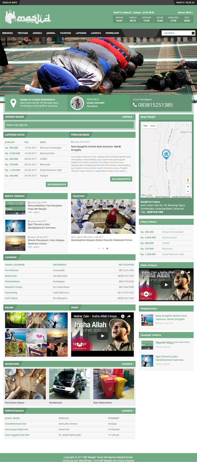 Preview Template Website Masjid