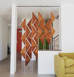 3D room divider ideas from wooden pieces