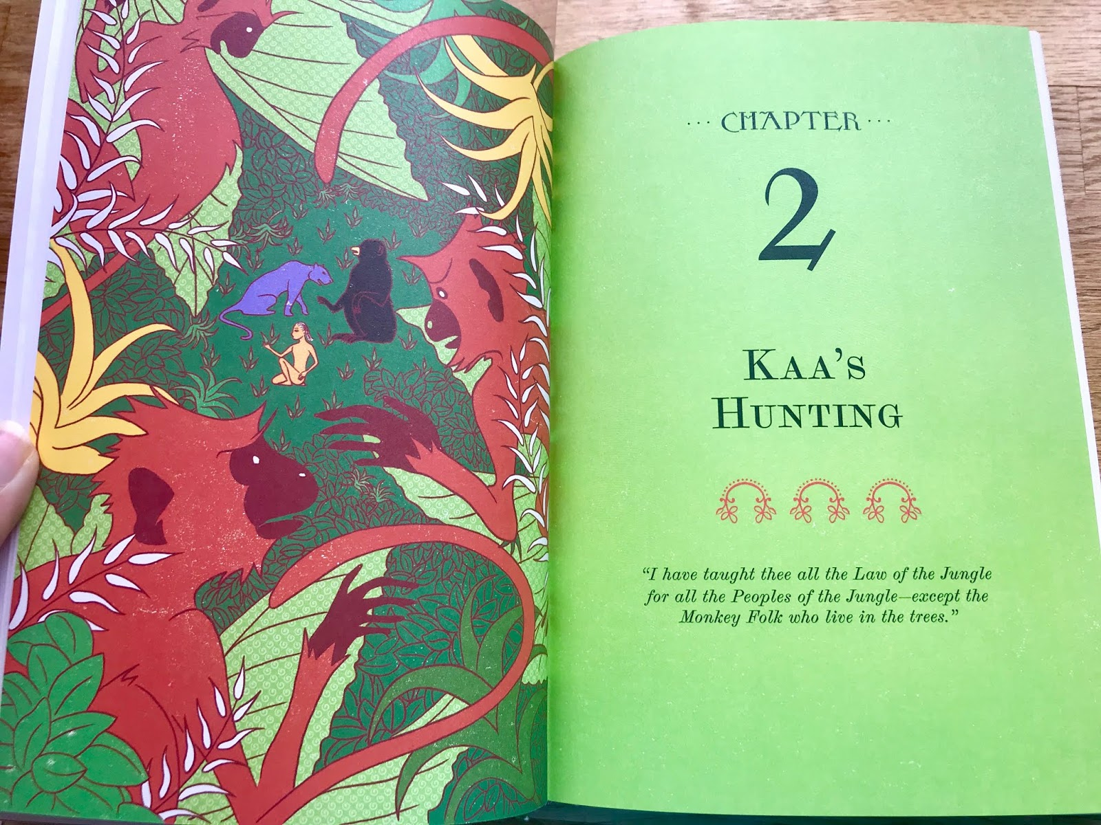 Feeling Fictional Review The Jungle Book Illustrated With
