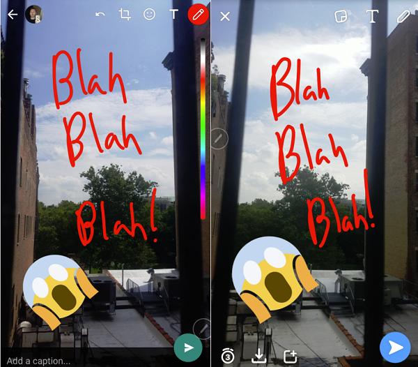 WhatsApp meniru Snapchat