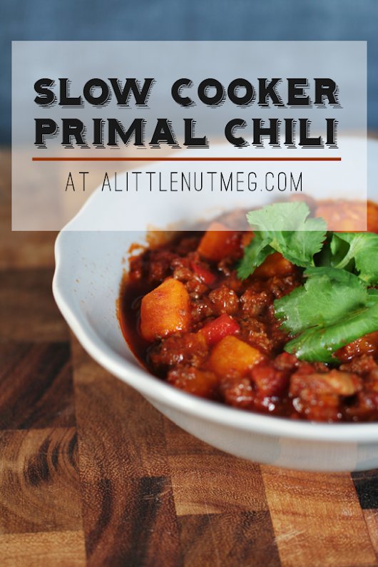Slow Cooker Primal Chili with Sweet Potatoes
