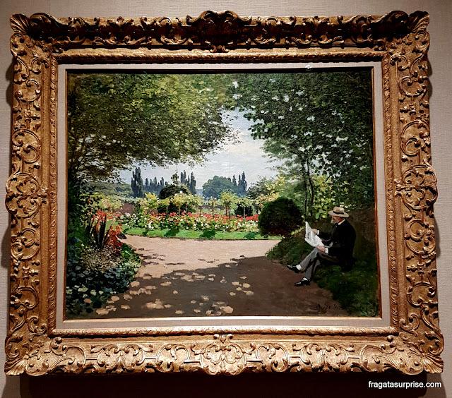 Tela de Monet no acervo do Museu Metropolitan de Nova York