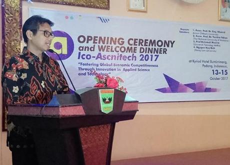 Gubernur Irwan Jadi Keynote Speaker ICoASNITECH 2017