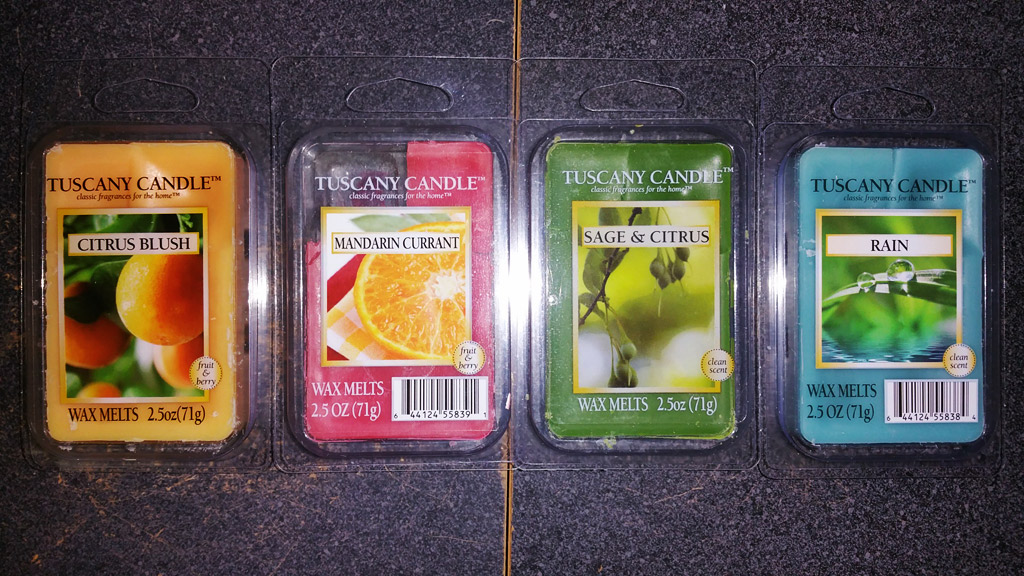 Scented Wax Melt Reviews: Tuscany Candle Scented Wax Melts ...