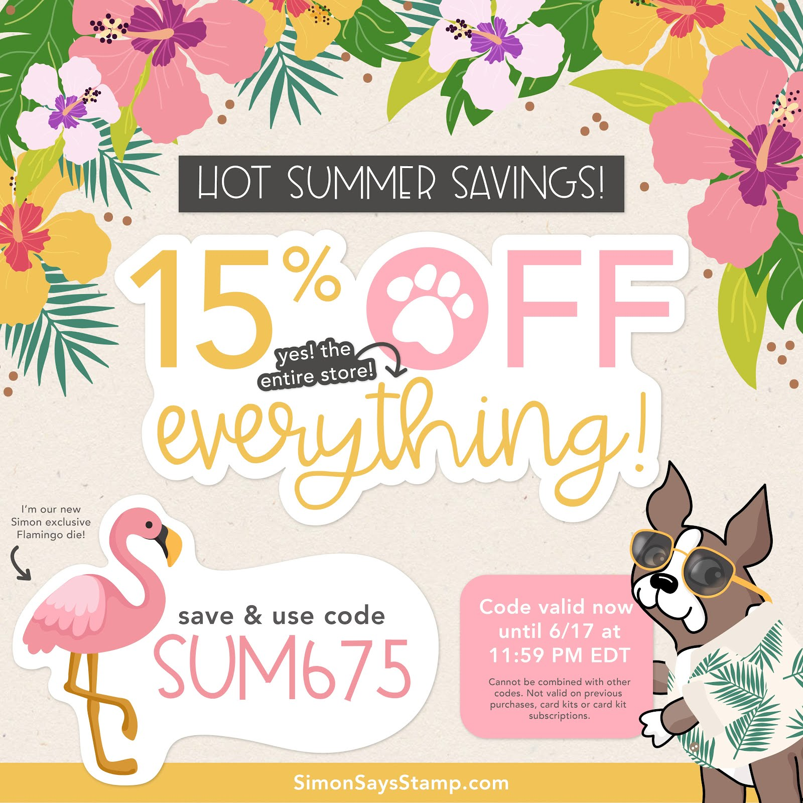 15% off EVERYTHING!!