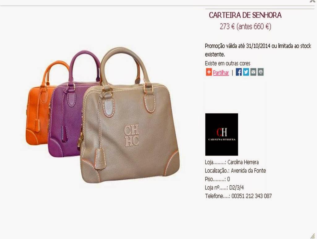 ... as malas Carolina Herrera. Apesar de não serem propriamente baratas, a  qualidade e a intemporalidade do modelo, acabam por compensar o  investimento. eec90580a8