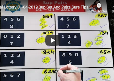 Thai lottery 3up pair VIP formula numbers 01 April 2019