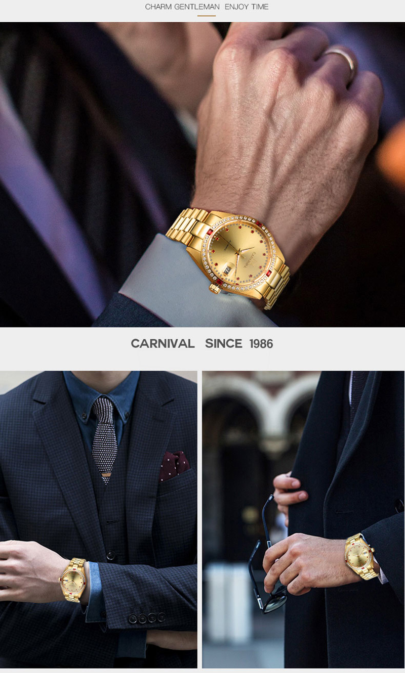 đồng hồ vàng cho quý ông