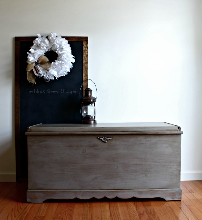Cedar chest painted in Coco Chalk Paint by Annie Sloan.